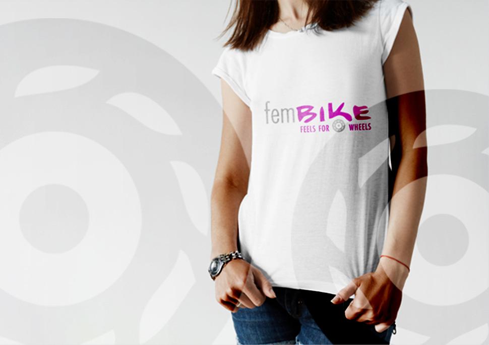 Logo für das Frauen-Motorradmagazin fembike   Design KERNgeschäft