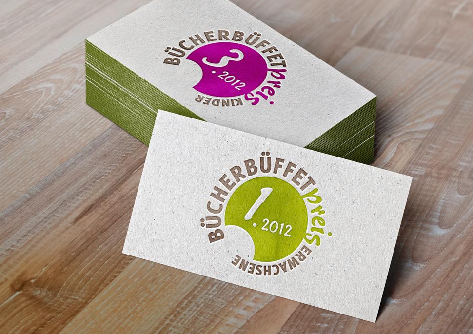 Logoentwicklung für den Bücherbüffet-Preis im Bereich Kinderbuch und Erwachsenenbuch