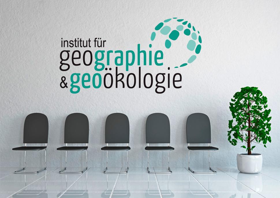 Logo des Instituts für Geographie und Geoölologie am KIT   Design KERNgeschäft