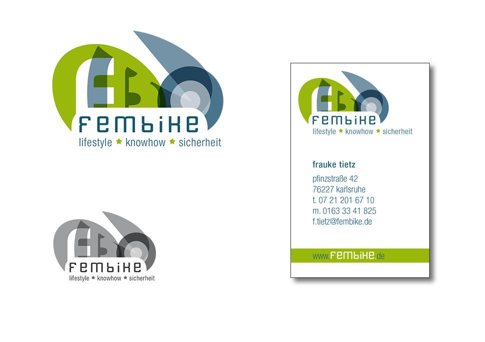Logo Fembike Alternativentwurf   Design KERNgeschäft Christine Kern