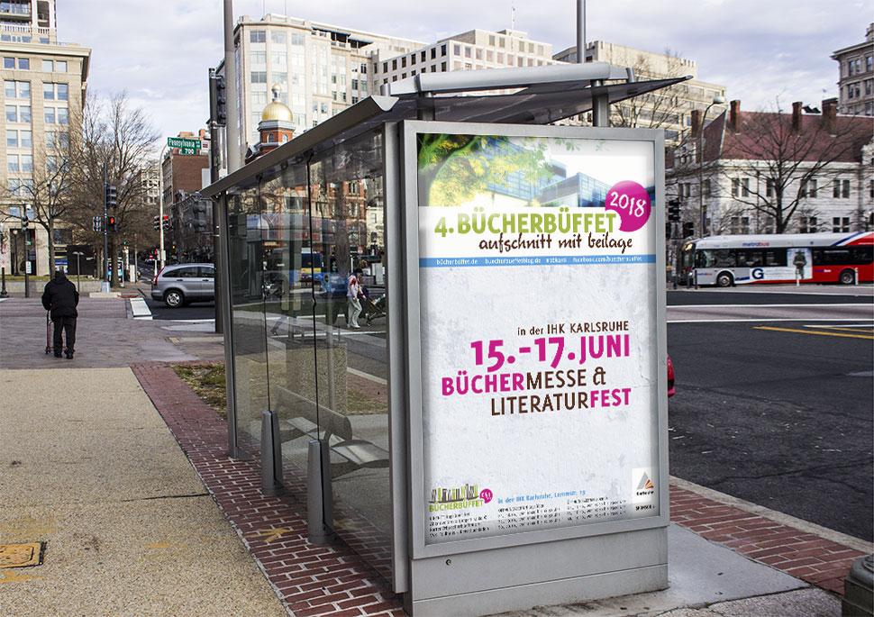 Plakatentwurf für die Bücherbüffet-Messe 2018    Corporate Design KERNgeschäft