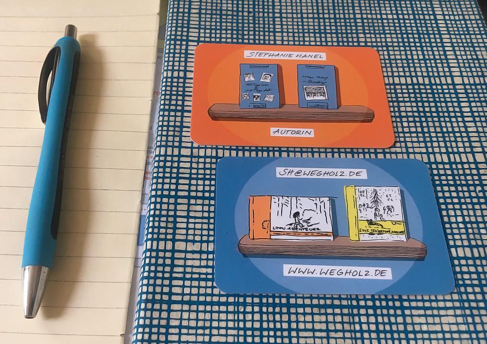 Visitenkarten für die Autorin Stephanie Hanel    KERNgeschäft Christine Kern