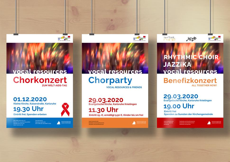 Konzept für Konzertplakate in Power Point   KERNgeschäft Christine Kern